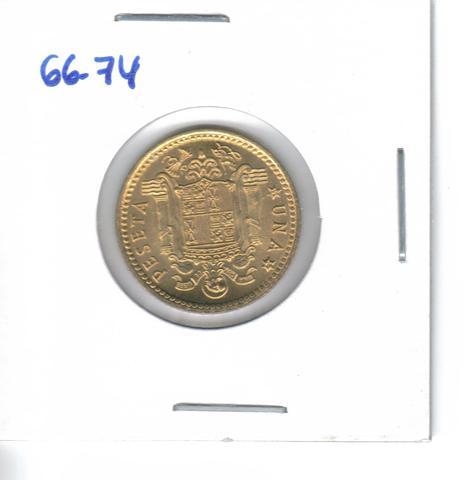 Tres Monedas De 1 Pta. De 1966/74 (S/C)