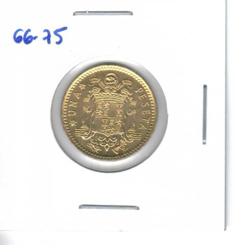 Tres Monedas De 1 Pta. De 1966*75  (S/C)