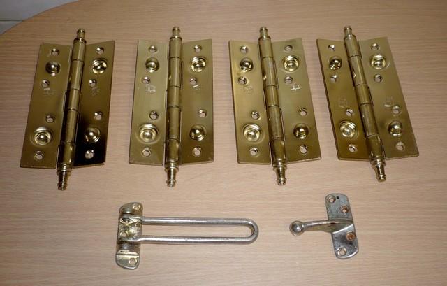 4 Bisagras Puerta Seguridad + Pasador