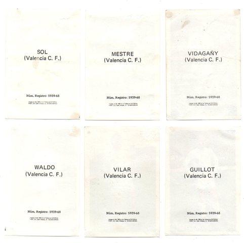 VALENCIA C.  F.  (FHER 1. 968/69) 6 CROMOS.  - foto 2