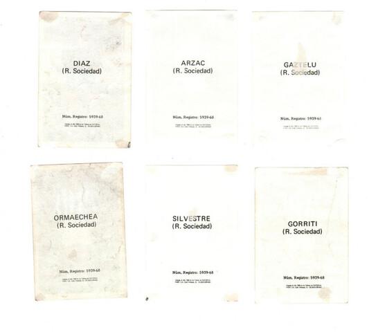 REAL SOCIEDAD (FHER 1. 968/69) 7 CROMOS.  - foto 2