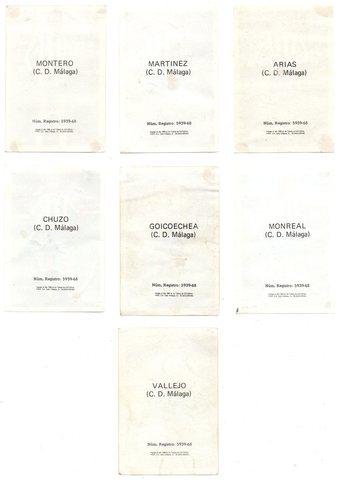 C.  D.  MALAGA (FHER 1. 968/69) 7 CROMOS.  - foto 2