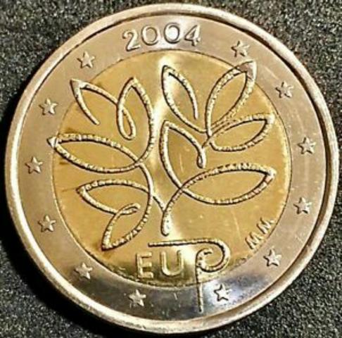 Increíble Moneda De Finlandia  2004: