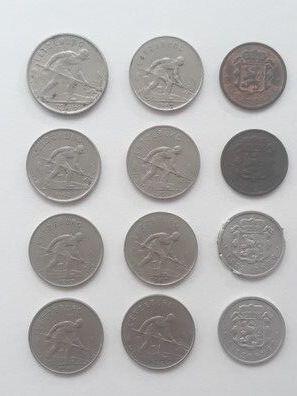 12 Monedas Gran Duquesa Charlotte Luxemb