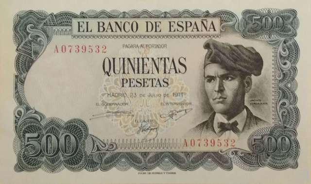 500 Pts 1971 Nº Bajo A0739532,Sc-