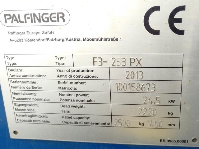 CARRETILLA TRANSPORTABLE PALFINGER - F3-253PX 2500KG 4X4 - foto 7
