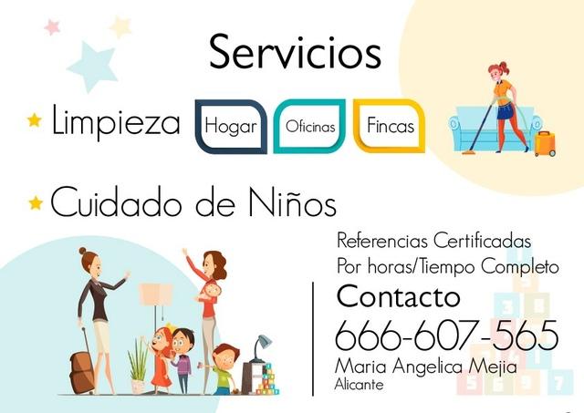 SERVICIO DE LIMPIEZA Y CUIDADO DE NIÑOS - foto 1