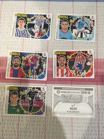 Liga 2018-19 , Cromos Este Panini