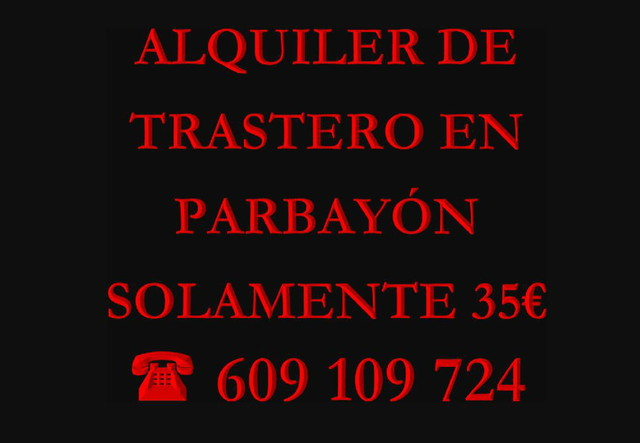 TRASTERO EN PARBAYÓN SOLAMENTE 35 EUROS - foto 1