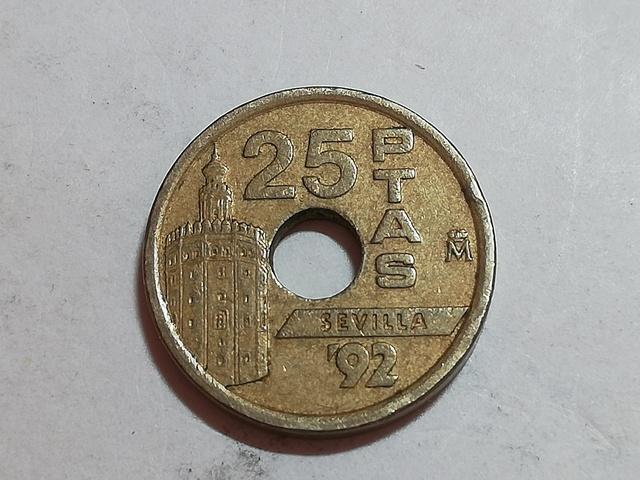 Moneda 25 Pesetas Sevilla `92