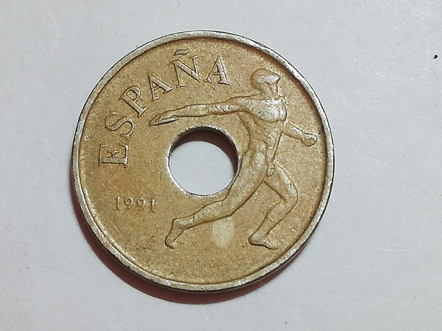 Moneda 25 Pesetas Juegos Olimpicos 1992