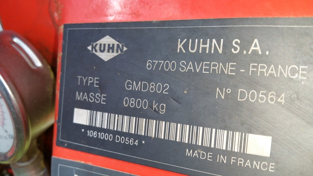 KUHN GMD 802 LIFT CONTROL - foto 5