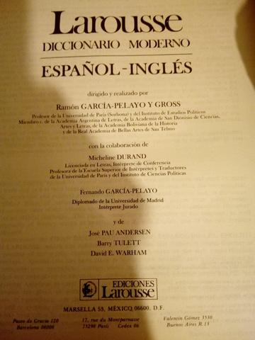 DICCIONARIO ESPAÑOL-INGLES,  LAROUSSE - foto 8