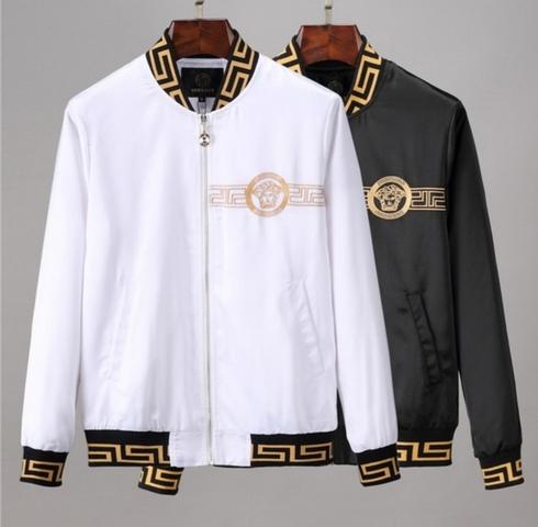 Versace Chaqueta para hombre Multicolor blanco y negro