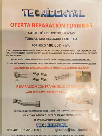 REPARACIÓN TURBINAS,  APARATOLOGIA DENTAL - foto 1