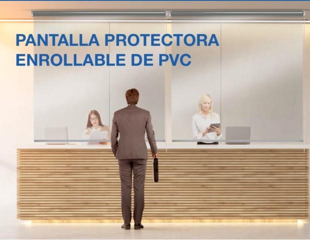 MAMPARA PANTALLA PROTECCIÓN ENRROLLABLE - foto 1