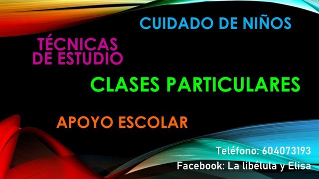 CLASES PARTICULARES Y/O CUIDADO DE NIÑ@S - foto 1
