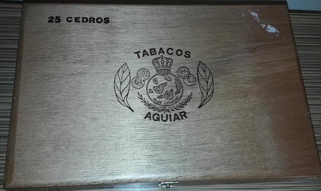 Caja De Puros (Vacia) Tabacos Aguiar