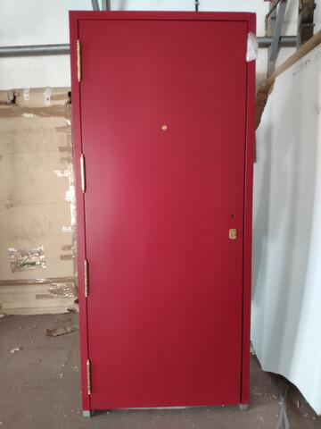 Puerta Entrada 92X210 Cm Roja Nueva
