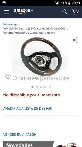 VOLANTE VW DE CUERO Y MADERA .  - foto 7