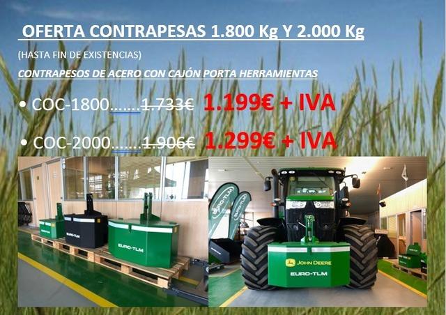 OFERTA CONTRAPESAS 1. 800KG Y 2000KG - foto 1