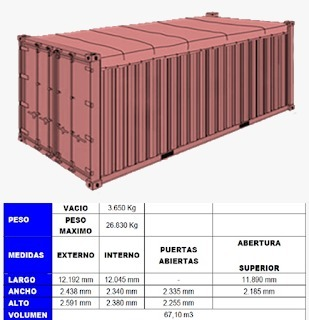 CONTAINERS OPEN TOP  20 PIES.  - foto 3