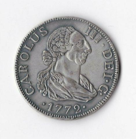 Moneda  8 Reales 1772 Carlos Iii
