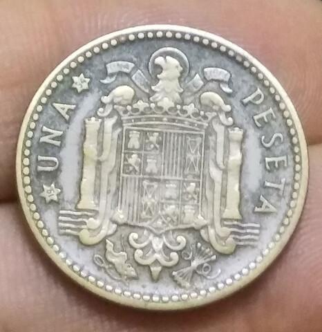 Moneda 1 Peseta 1947-54 Franco