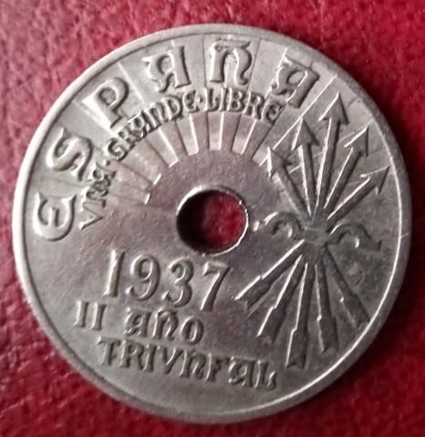 Venta De Moneda 25 Cts 1937