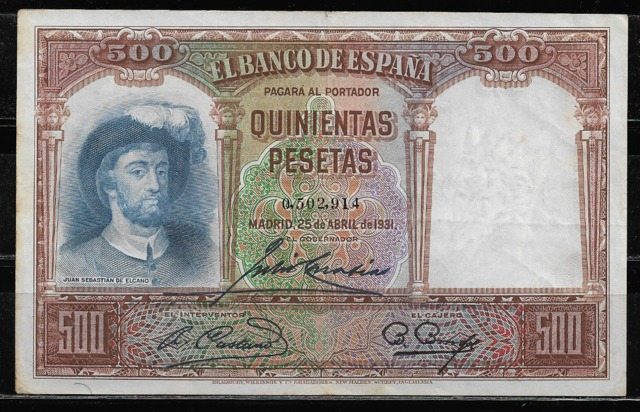 Billete 500 Pesetas 1931