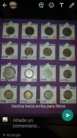 Colección De Monedas/Pesetas
