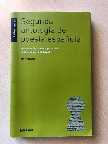 SEGUNDA ANTOLOGÍA DE POESÍA ESPAÑOLA - foto 1