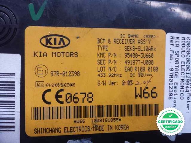 MODULO ELECTRONICO KIA SPORTAGE EMOTION - foto 2