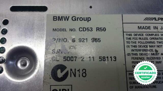 SISTEMA AUDIO RADIO CD BMW MINI R50R53 - foto 3