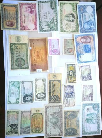 50 Billetes España.  Todos Distintos O E
