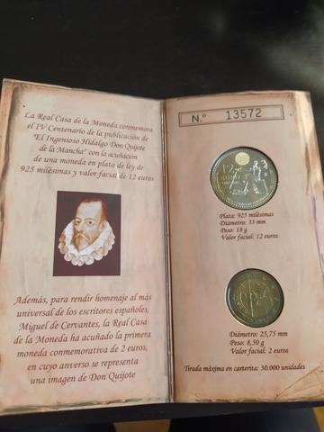 12 Euros Plata Y 2 Euros 2005 Quijote