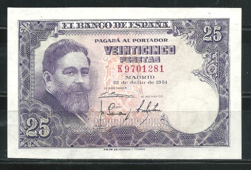 Billete Español 1954