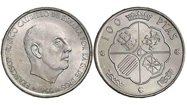 Monedas De 100 Pesetas Franco Plata