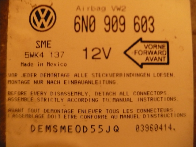 CENTRALITA AIRBAG GOLF 3 1. 6 GT 96 - foto 1