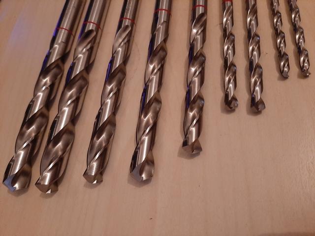 Juego De 9 Brocas Metal Hss De Cobalto.