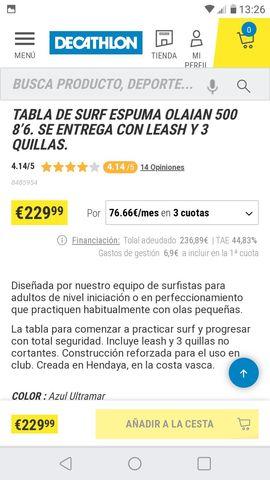 TABLA DE SURF (ORIGINALMENTE EMBALADO) - foto 3