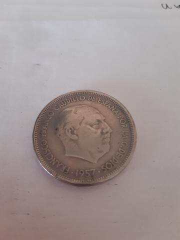 25 Pesetas Año 1957. Numero Estrella 58.