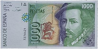 1000 Pesetas 1992 - Sin Serie. Plancha