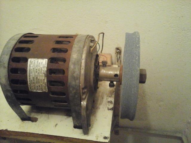 Motor De Lavadora Con Piedra De Afilar