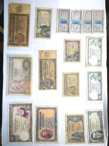 Lote 16 Billetes Españoles. 12 Distintos