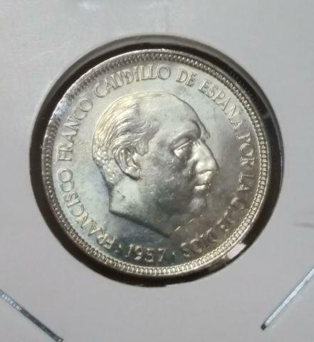Moneda 5 Pesetas 1957-75 Franco Sc