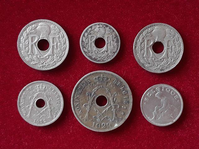 6 Monedas De Entreguerras
