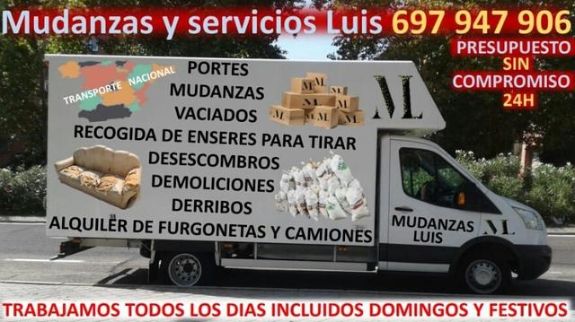 SERVICIOS MUDANZAS VACIADOS DESESCOMBRO - foto 1