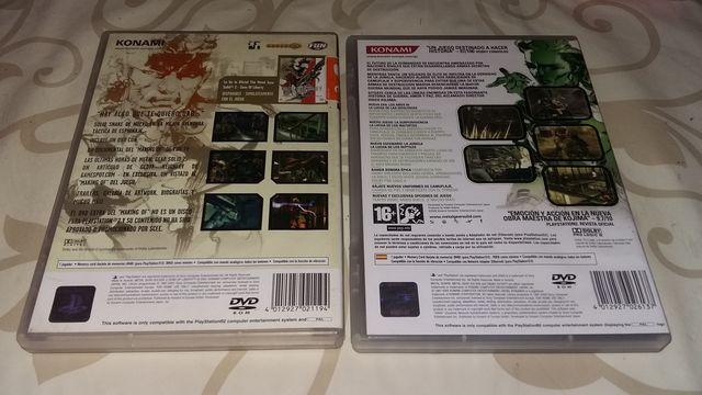 SAGA METAL GEAR SOLID 2 Y 3 PS2 - foto 2