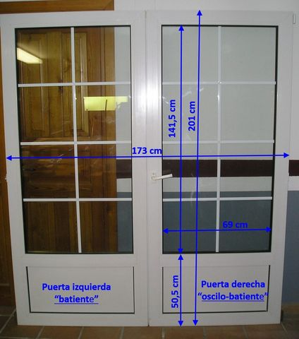 Puerta Balconera Pvc 2 Hojas
